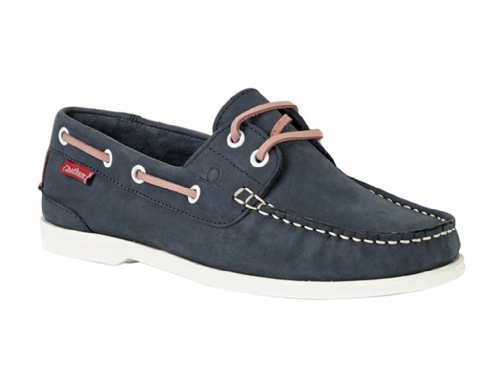 Chatham Ladies Willow Boat Shoe Navy Pink